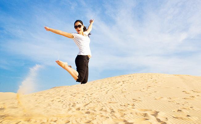 Thỏa sức chơi và cười tươi trong gió