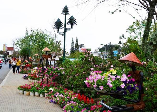 Tiểu cảnh hoa trong Festival hoa Đà Lạt 2013