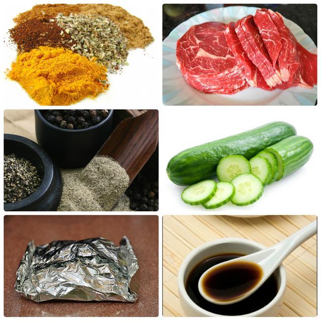 Nguyên liệu cần thiết cho món thịt bò ốp bô