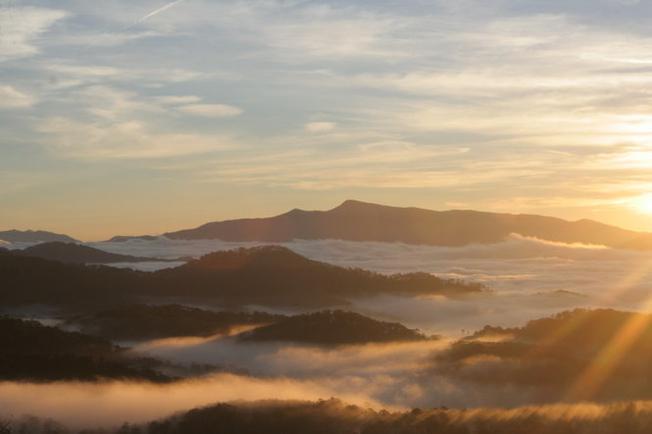 Một góc vườn quốc gia Bidoup nhìn từ trên cao