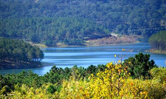Ngắm cảnh Hồ Tuyền Lâm mang màu xanh biếc của ngọc bích