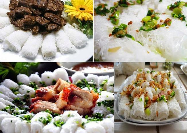 Bánh hỏi An Nhất ăn kèm với thịt nướng, thịt bò xiên nướng, chả giò hay lòng heo đều có hương vị thơm ngon đặc biệt