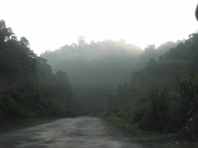 Đèo Chuối lượn quanh những rừng cây trùng điệp