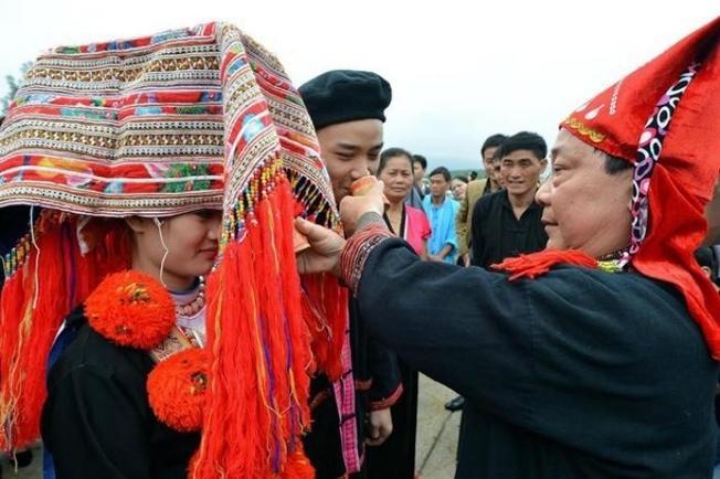 Một đám cưới của người Dao Đỏ ở địa điểm du lịch Sa Pa