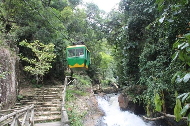 Đi cáp treo giúp bạn ngắm toàn cảnh thác Datanla từ trên cao