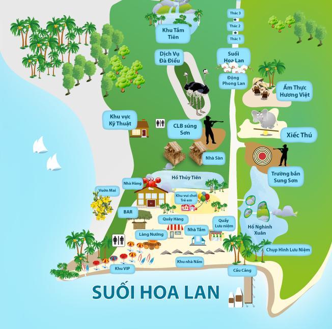 Bản đồ du lịch suối Hoa Lan