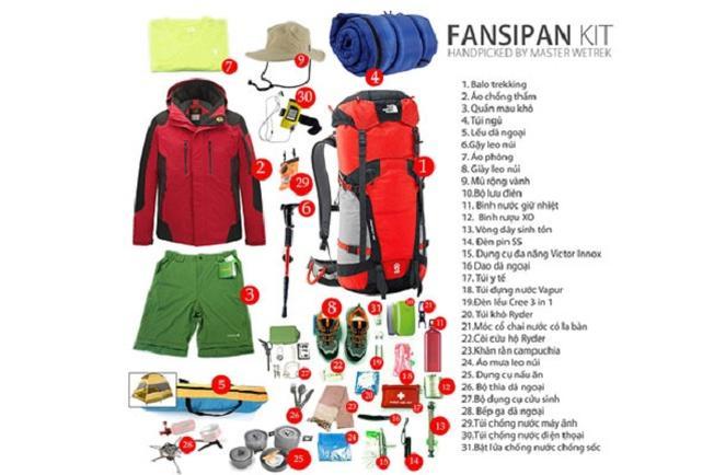 Bạn có hàng tá vật dụng cần chuyển bị để chinh phục đỉnh Fansipan