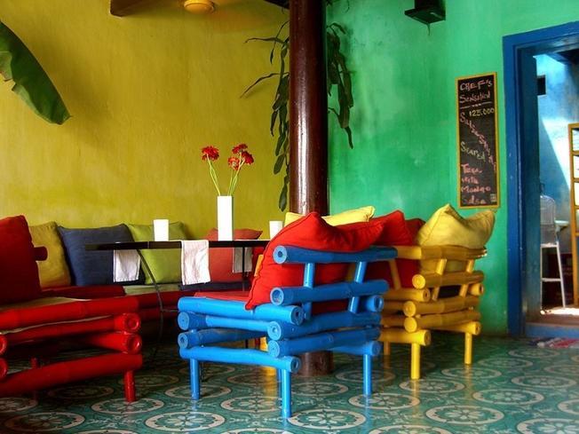 Không gian mát rười rượi ở quán Mango Café