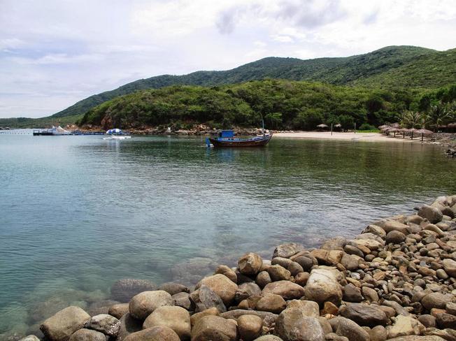 Làng chài ở Bãi Trũ Nha Trang