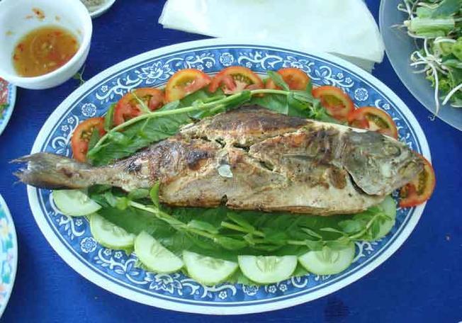 Cá cu nướng món ăn dân dã của người Hội An