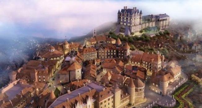 Một mô hình làng Pháp Bà Nà