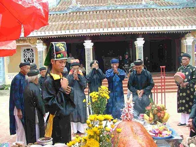 Nghi lễ tại đình làng Quá Giáng