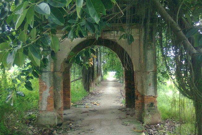 Cổng làng xưa kia