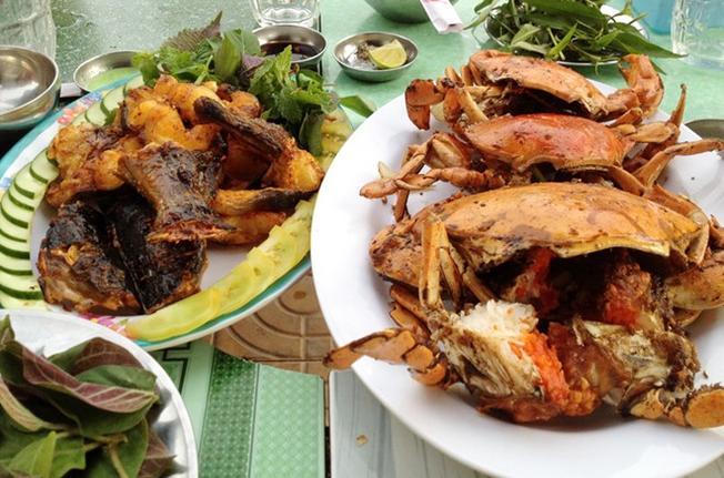 Các món ăn hải sản thơm ngon