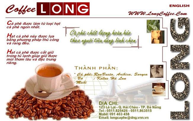 Menu đặc biệt của cà phê Long với hơn 30 năm tuổi