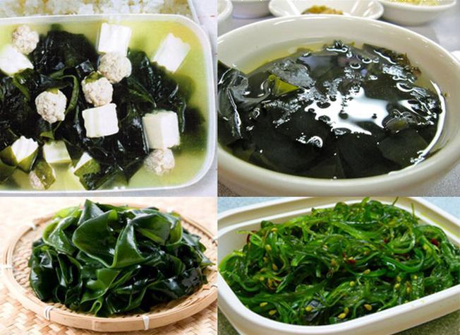 Các món ăn được chế biến từ rong biển