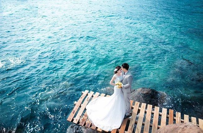 Hồ Xanh nơi lý tưởng của những bức ảnh cưới