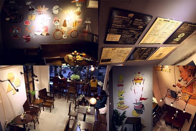 Phong cách cổ điển ở Mia Café Quán