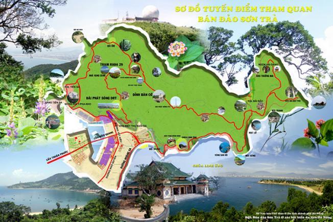 Nên đem theo bản đồ chỉ dẫn bán đảo Sơn Trà