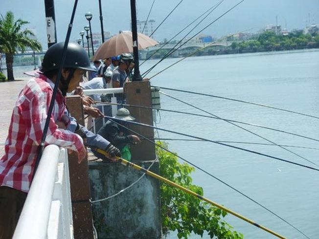 Câu cá là thú vui tao nhã bên bờ sông Hàn