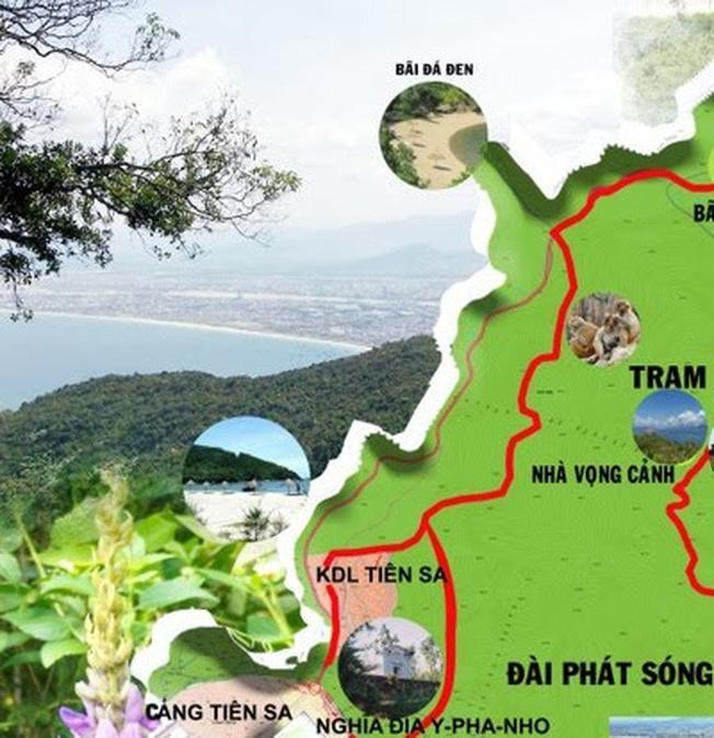 Vị trí bãi Đá Đen trên bản đồ du lịch Đà Nẵng