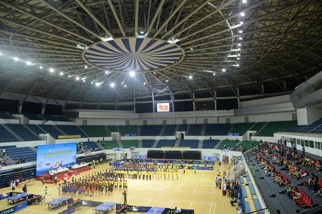 Hệ thống cơ sở vật chất hiện đại bên trong Cung thể thao Tiên Sơn