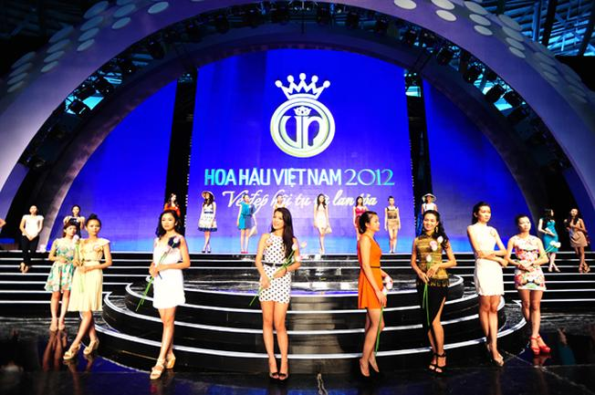 Đêm chung kết Hoa hậu Việt Nam năm 2012 được tổ chức tại Cung thể thao Tiên Sơn
