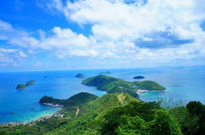 Đảo Nam Du nhìn từ trên cao
