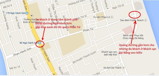 Đường đi đến phố Phan Tứ