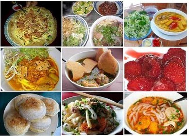 phố ăn uống Phan Tứ với đầy đủ các món đặc sản