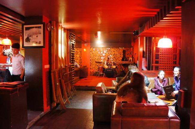 Khu vực dành cho những người thưởng thức âm nhạc tại Sa Pa