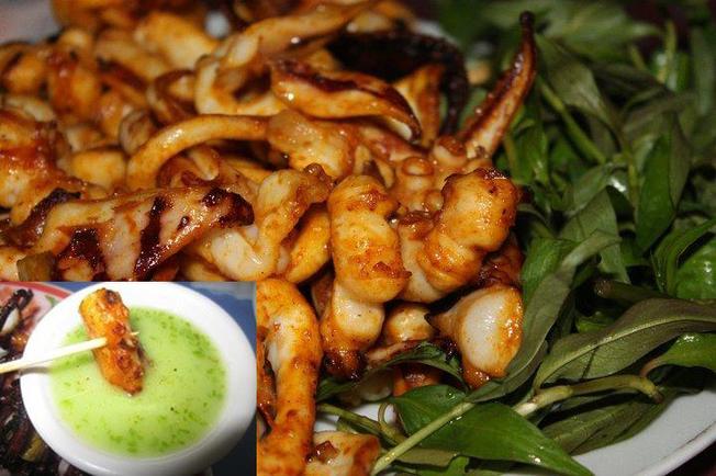 Đặc sản Bạch tuộc nướng là món hợp ăn trưa ở Vũng Tàu(Ảnh sưu tầm)