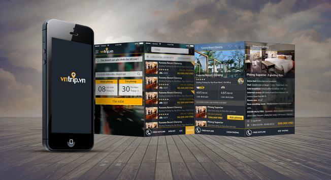 Ứng dụng di động đặt phòng trực tuyến Vntrip.vn