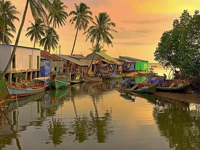 Xóm làng bên biển