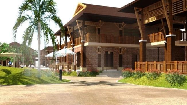 Với nét kiến trúc kết hợp giữa hiện và truyền thống làm tôn them nét đẹp của resort